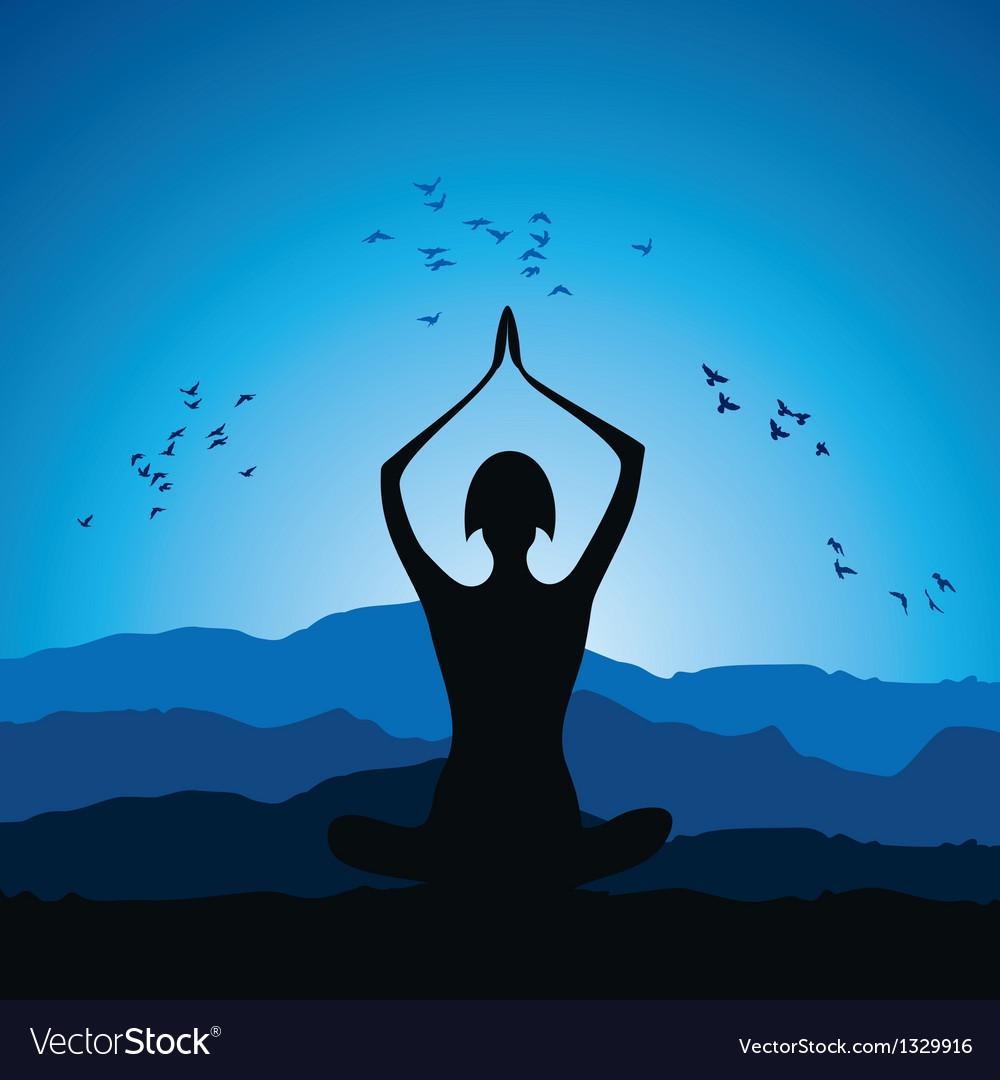 Yoga women figure vector | Price: 1 Credit (USD $1)