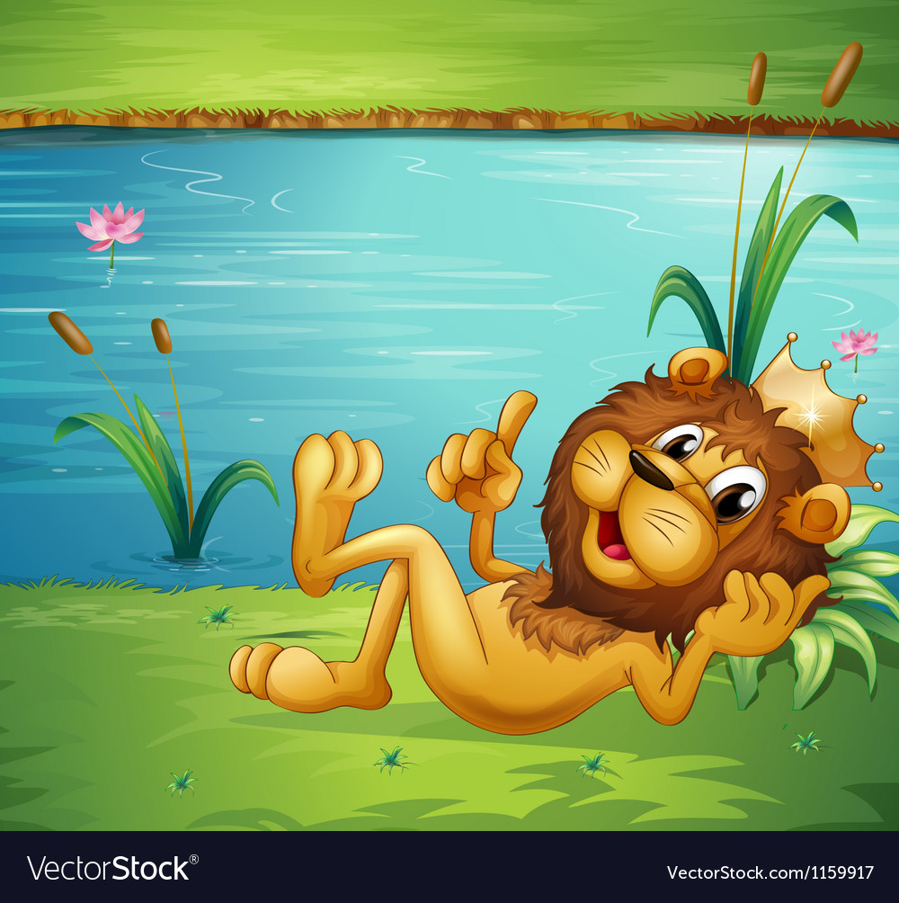 A lion with a crown vector | Price: 1 Credit (USD $1)