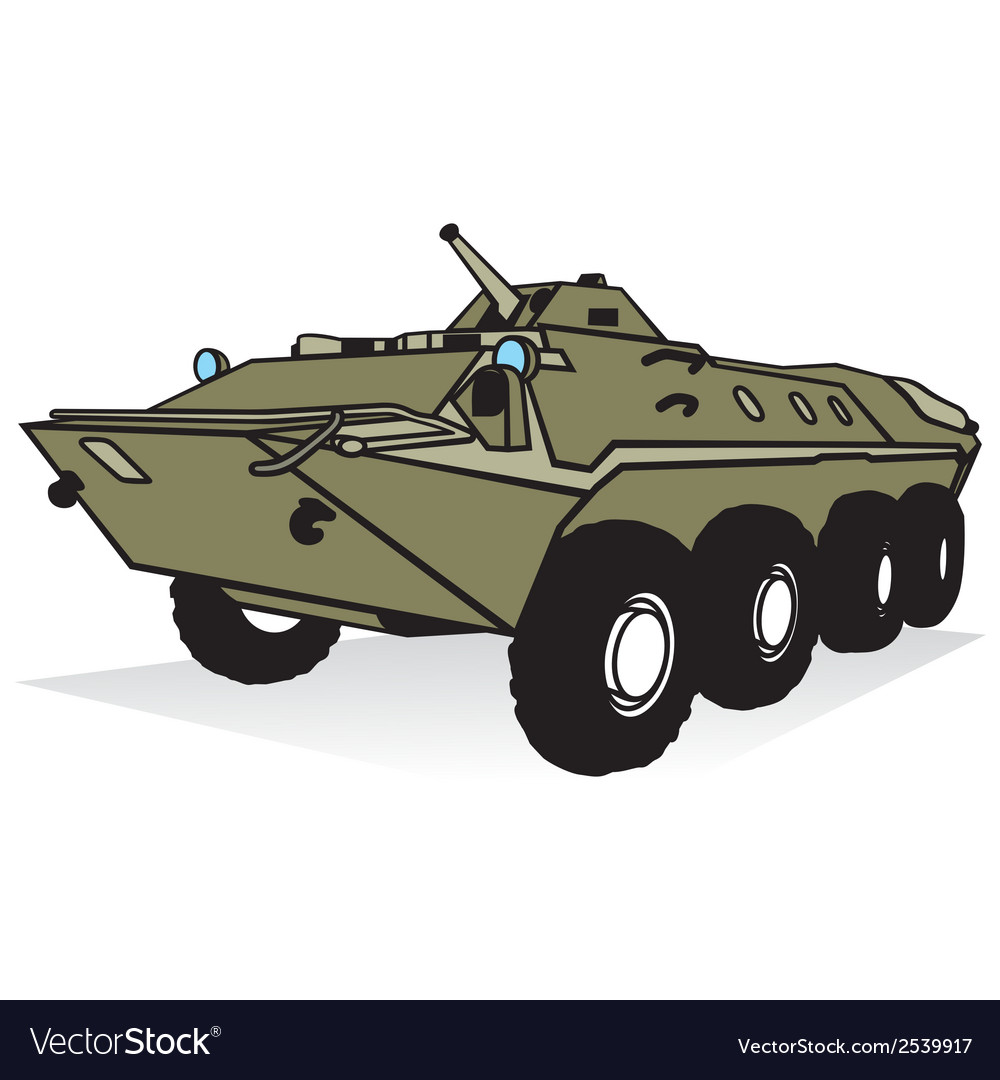 Armored troop-carrier vector | Price: 1 Credit (USD $1)