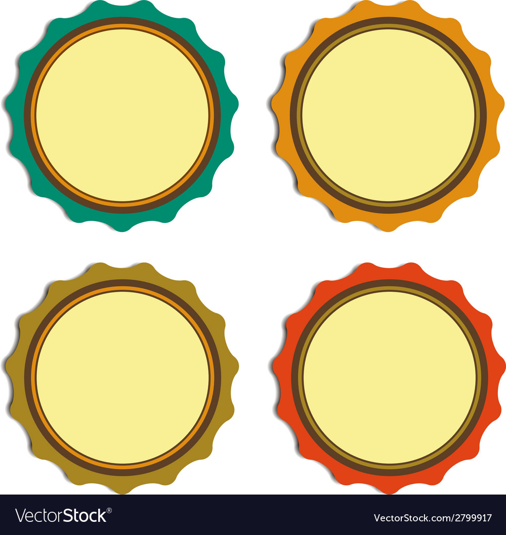 Circle label vintage promotions or qualities vector | Price: 1 Credit (USD $1)
