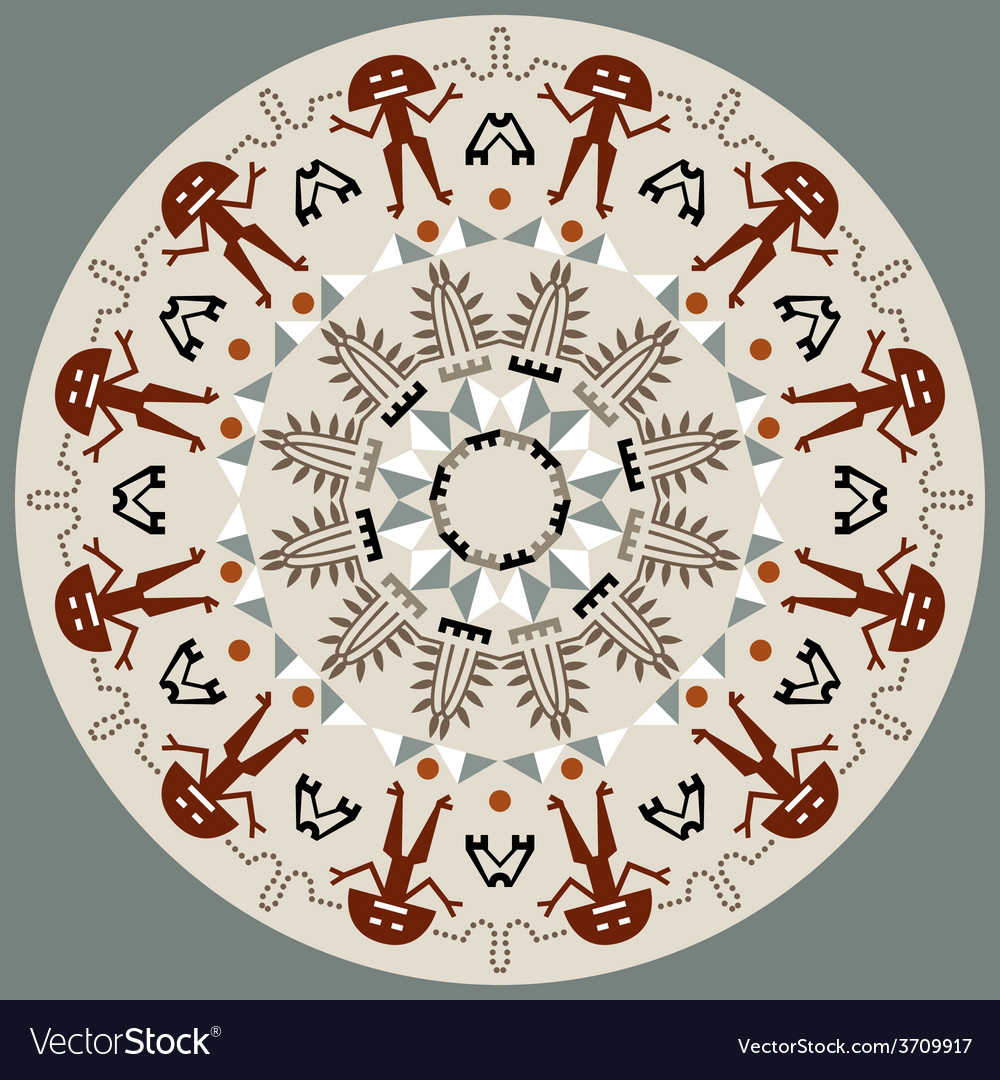 Disc with original art elements vector | Price: 1 Credit (USD $1)