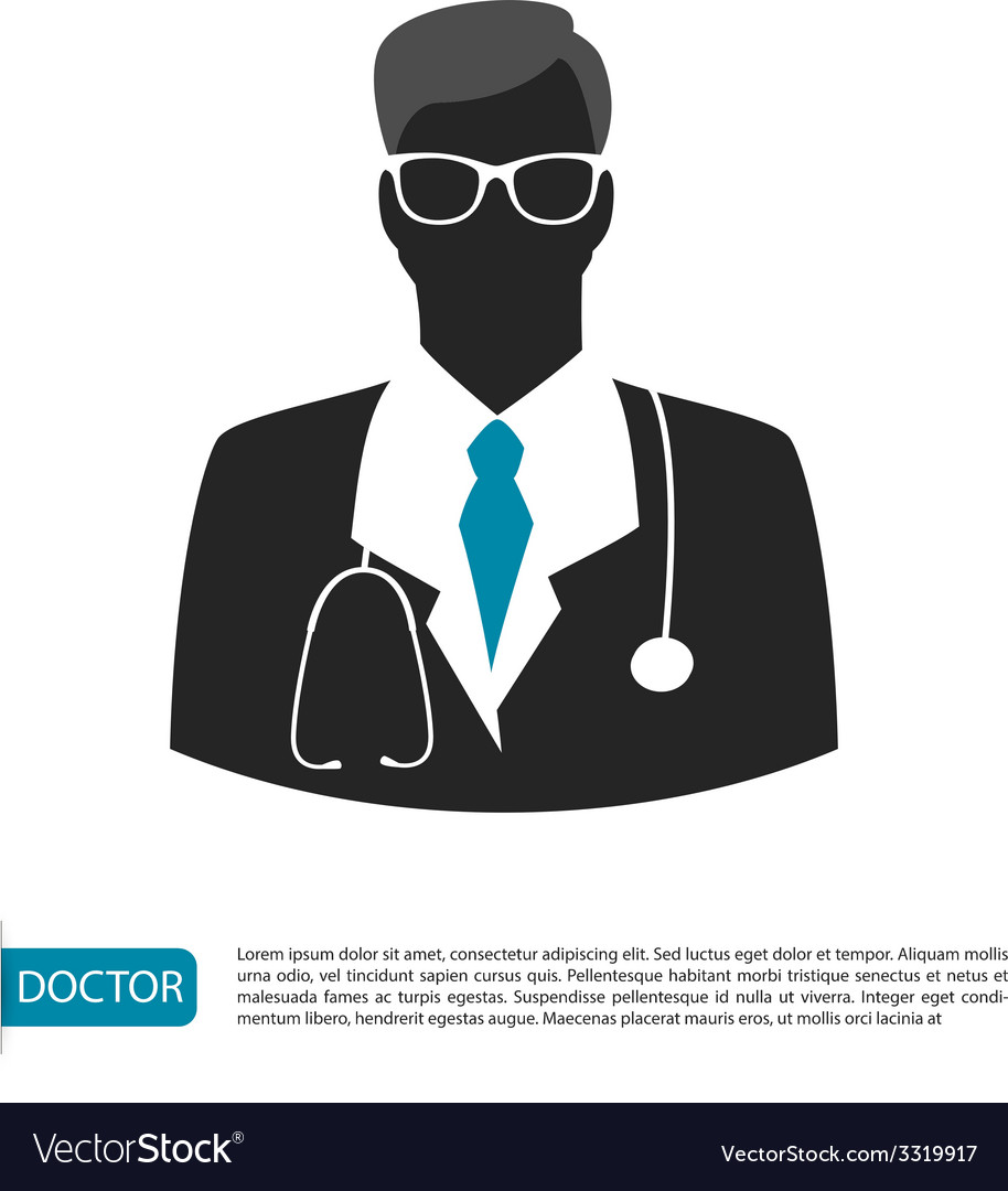 Doctor character man image vector | Price: 1 Credit (USD $1)
