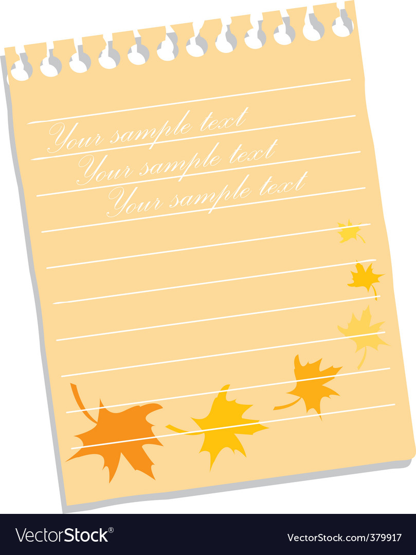 Floral notepad vector | Price: 1 Credit (USD $1)