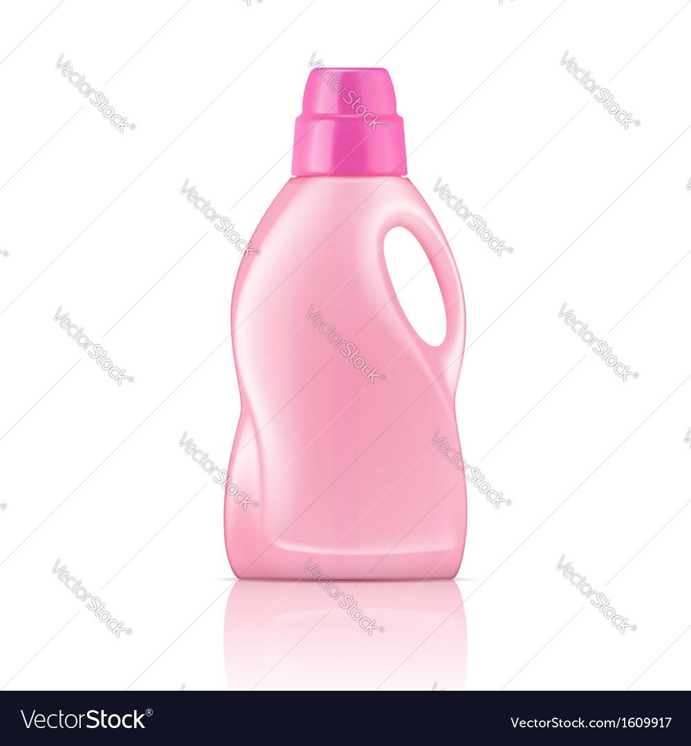 Pink liquid laundry detergent bottle vector | Price: 1 Credit (USD $1)