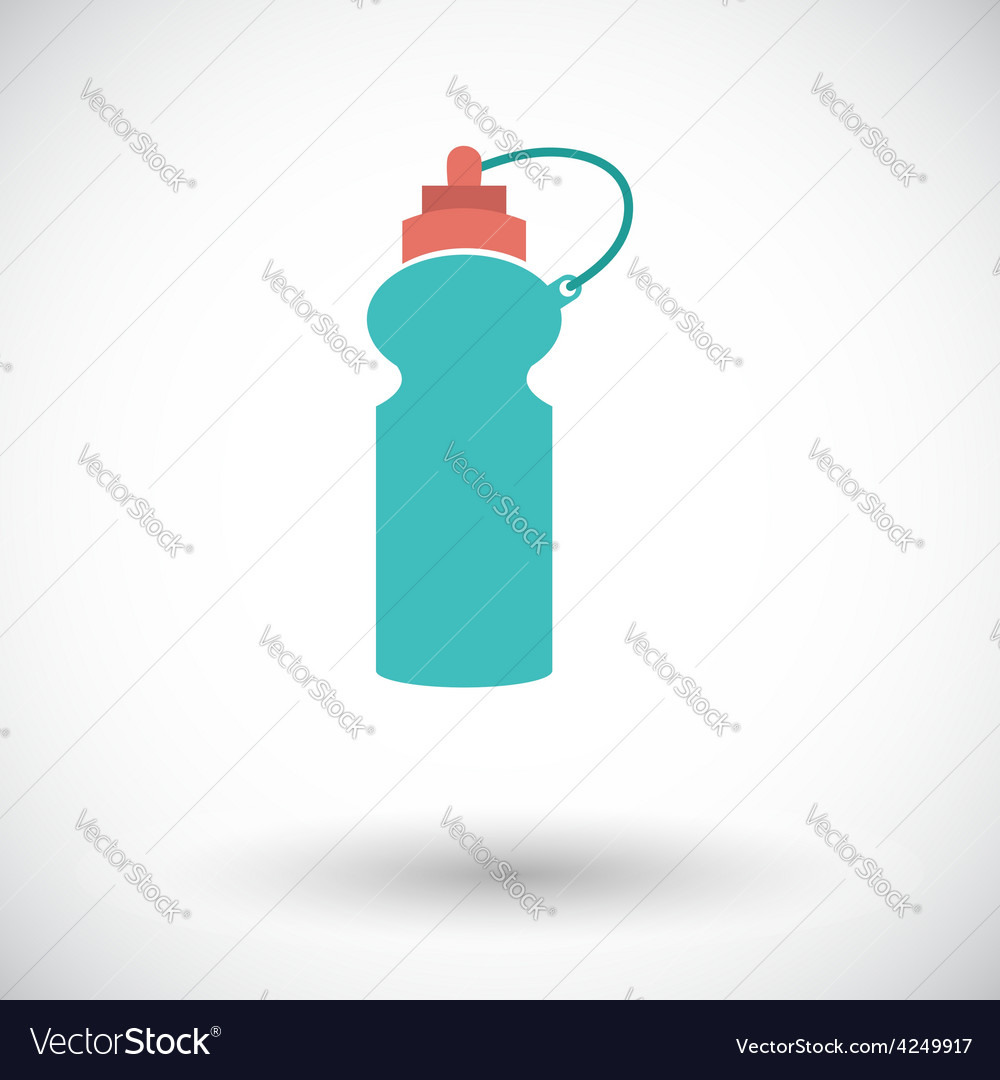 Sports water bottle icon vector | Price: 1 Credit (USD $1)