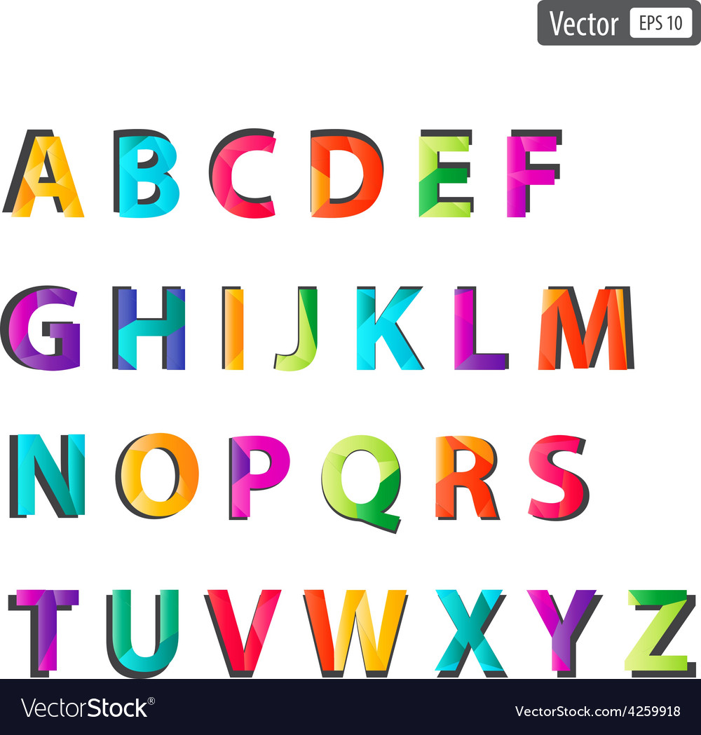 Colourful alphabet set vector | Price: 1 Credit (USD $1)