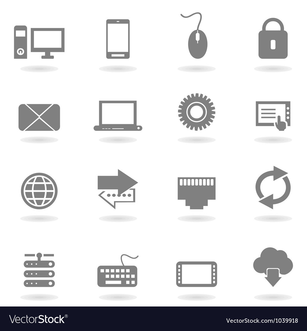 Computer an icon vector | Price: 1 Credit (USD $1)