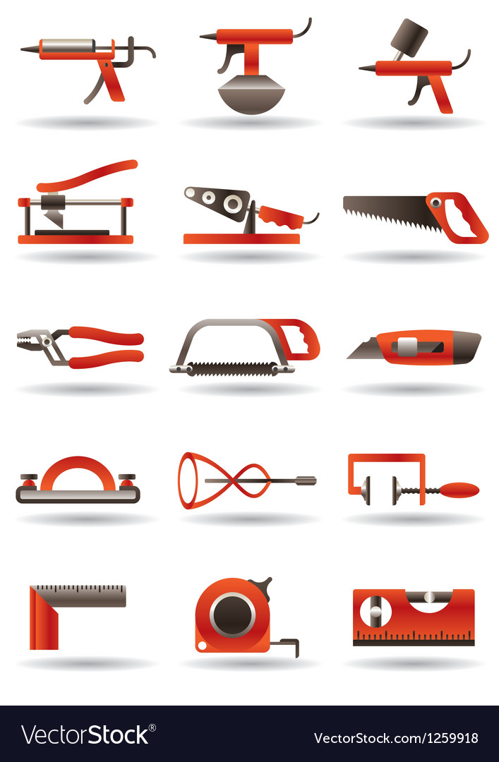 Construction and building manual tools vector | Price: 3 Credit (USD $3)