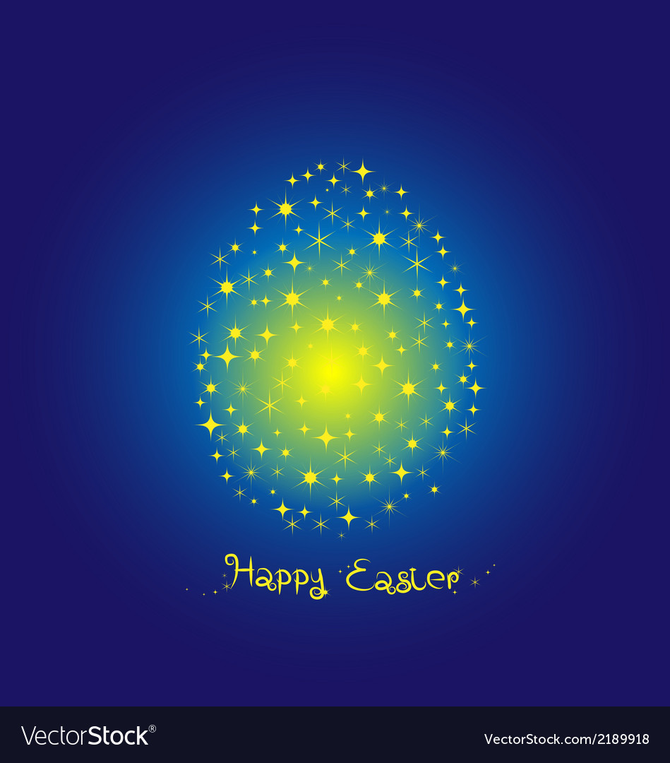 Fancy egg easter on blue background vector | Price: 1 Credit (USD $1)