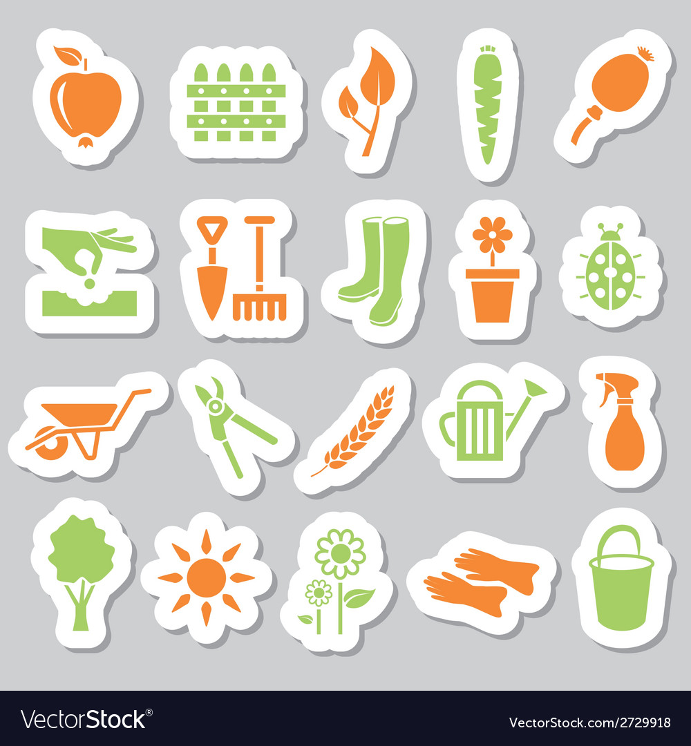 Garden stickers vector | Price: 1 Credit (USD $1)