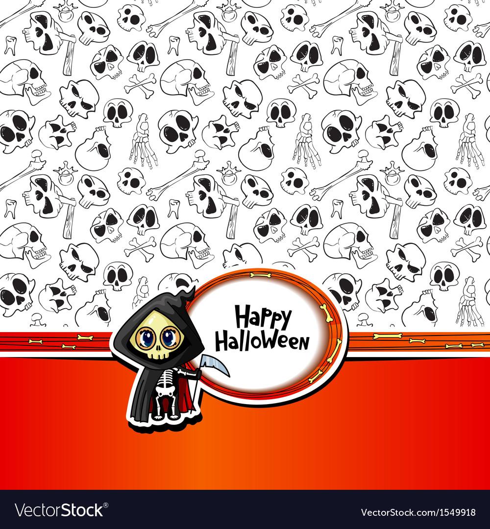 Halloween greeting vector | Price: 1 Credit (USD $1)