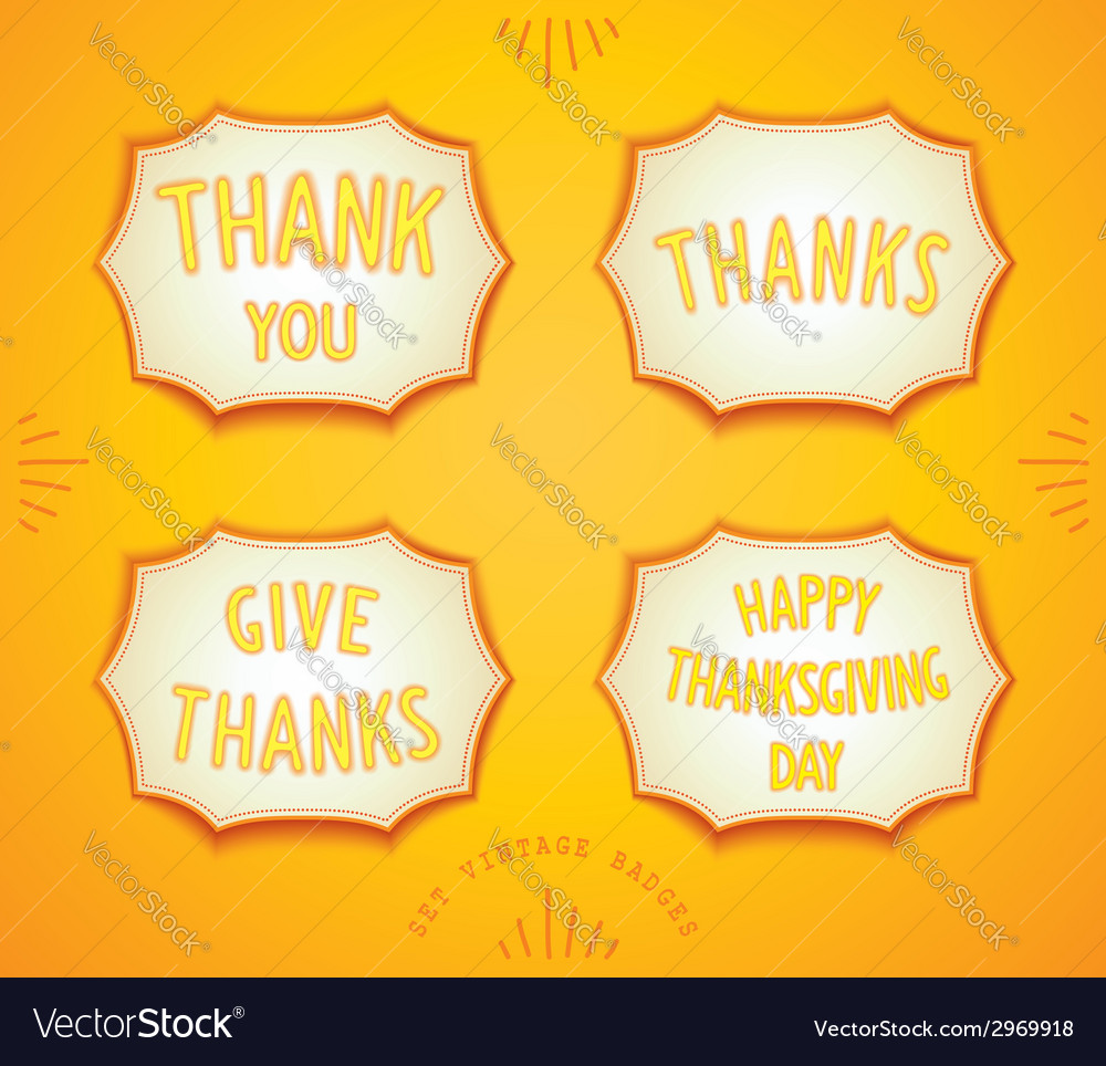 Happy thanksgiving day sticker vector | Price: 1 Credit (USD $1)