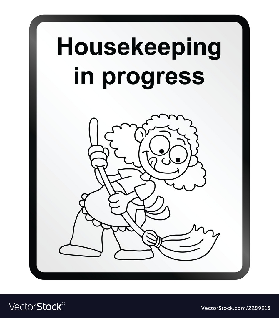 Housekeeping information sign vector | Price: 1 Credit (USD $1)