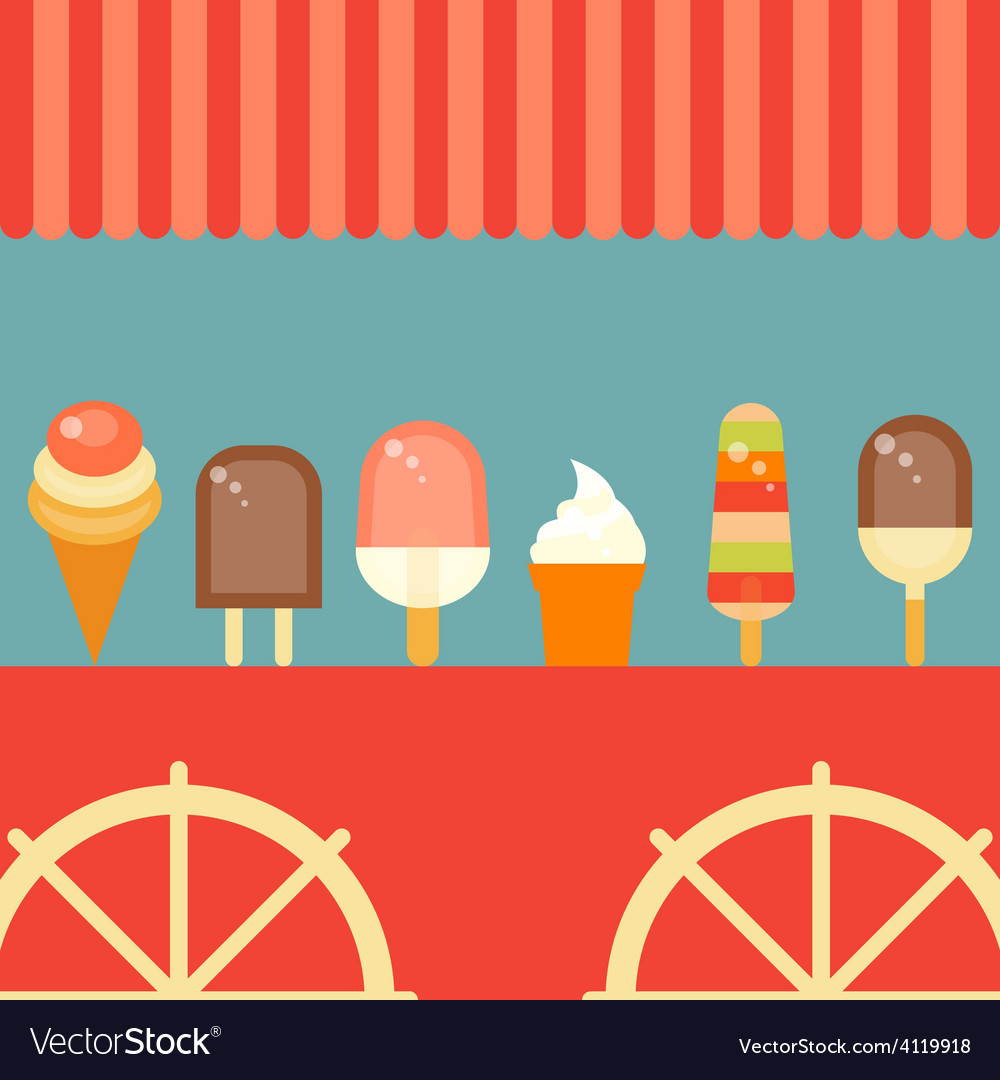Ice cream poster vector | Price: 3 Credit (USD $3)