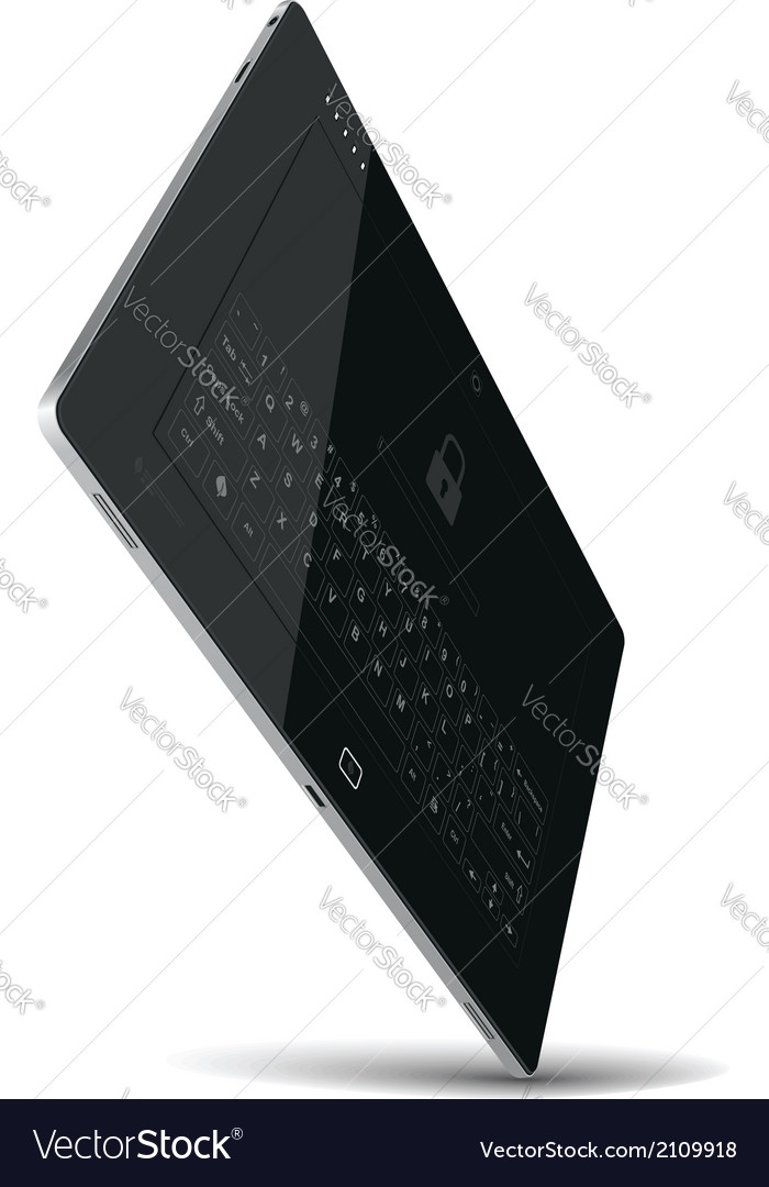 Tablet standing on one corner vector | Price: 1 Credit (USD $1)