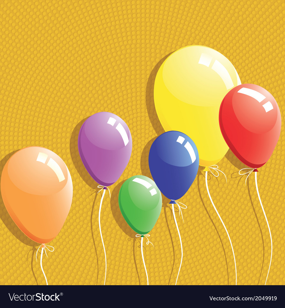 Balloon background birthday card vector | Price: 1 Credit (USD $1)