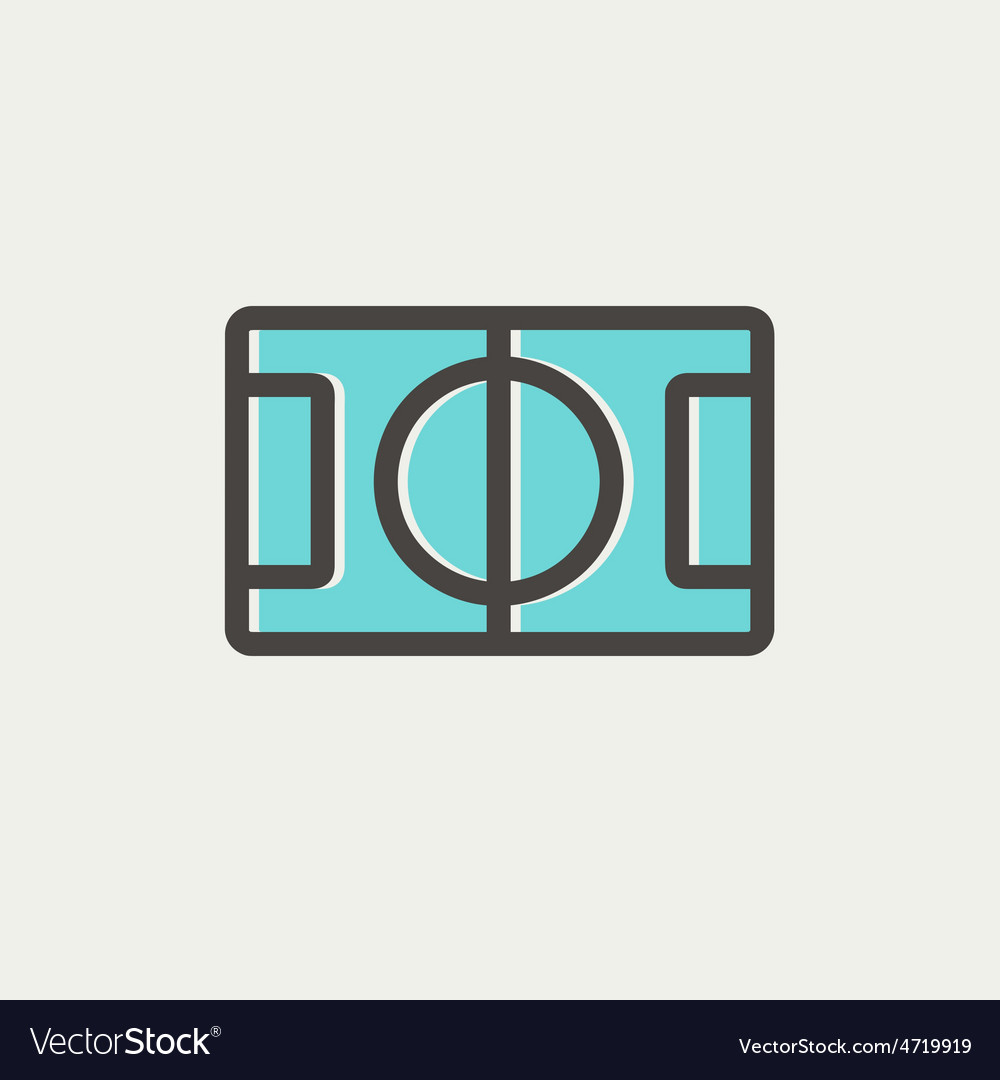 Basketball court thin line icon vector | Price: 1 Credit (USD $1)