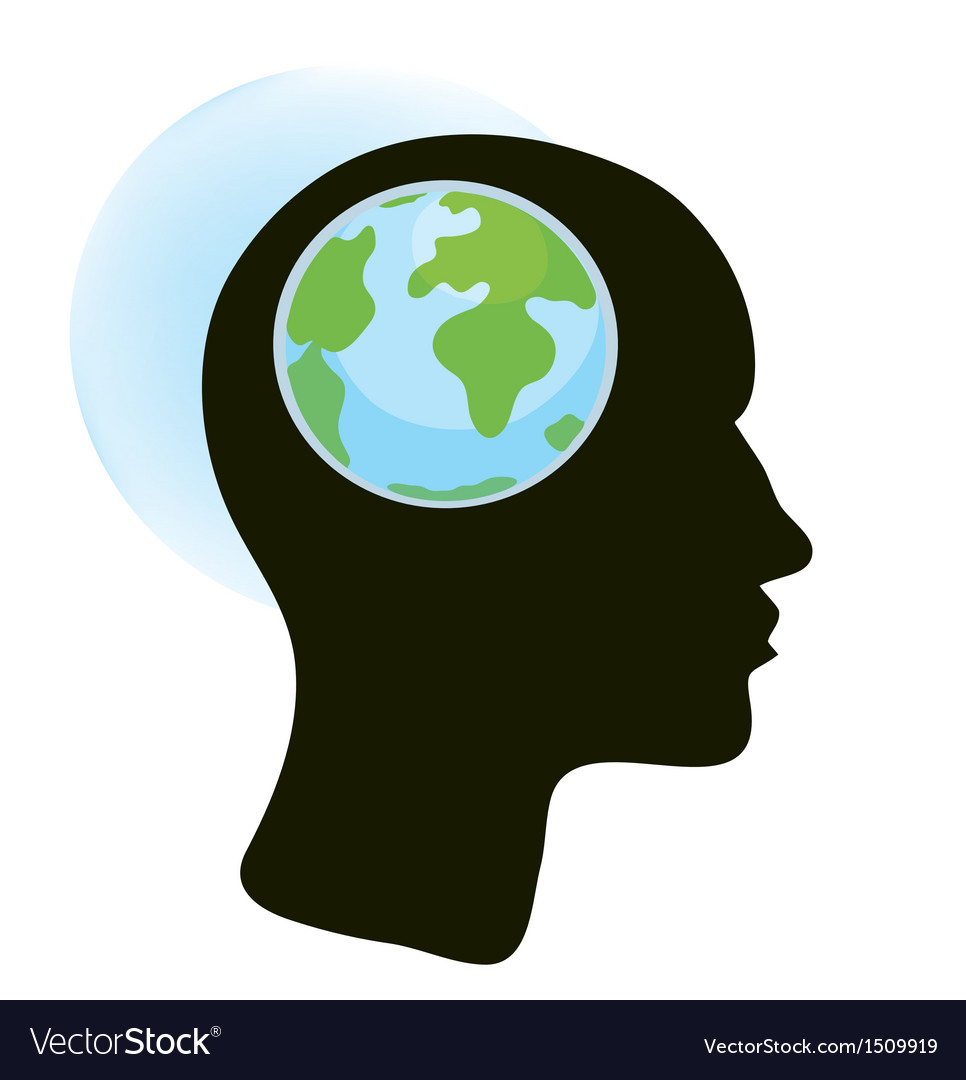 Brain and globe concept vector | Price: 1 Credit (USD $1)