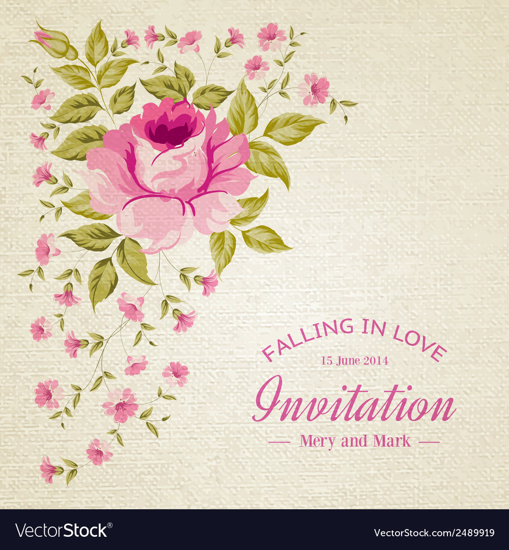 Card of color rose vector | Price: 1 Credit (USD $1)