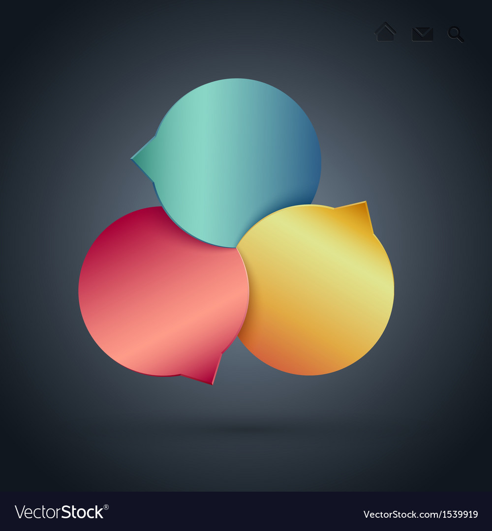 Circle navigation 3 vector | Price: 1 Credit (USD $1)