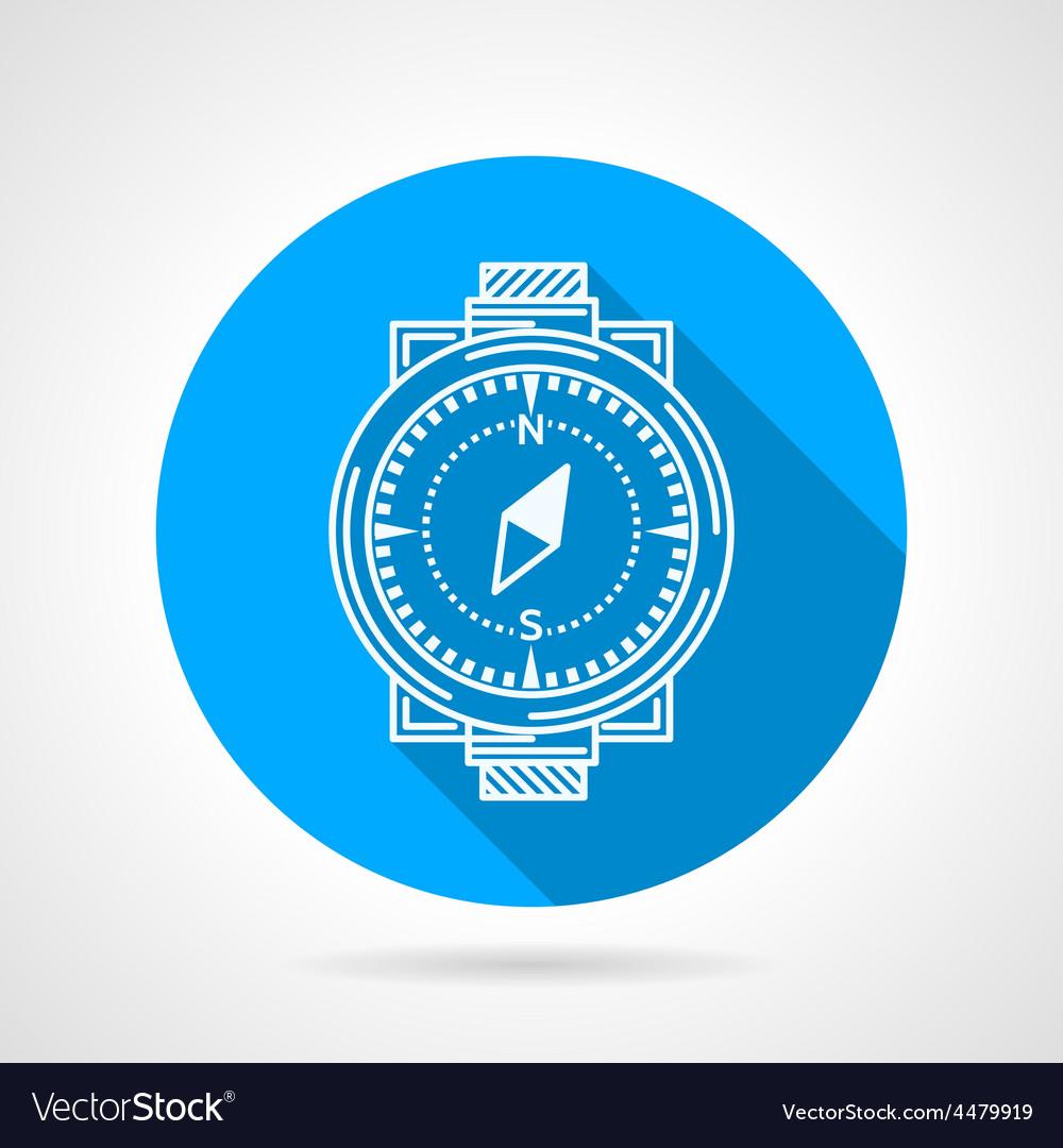 Compass round icon vector | Price: 1 Credit (USD $1)