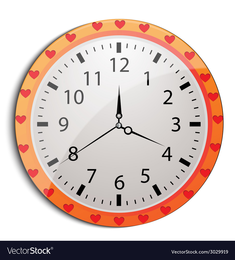 Funny cartoon clock for kids vector | Price: 1 Credit (USD $1)