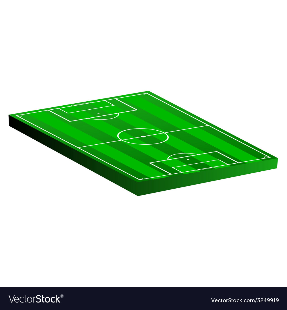 Soccer field on a white vector | Price: 1 Credit (USD $1)