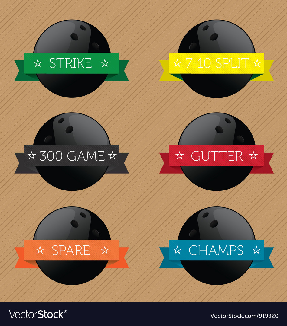 Bowling ball banners vector | Price: 1 Credit (USD $1)