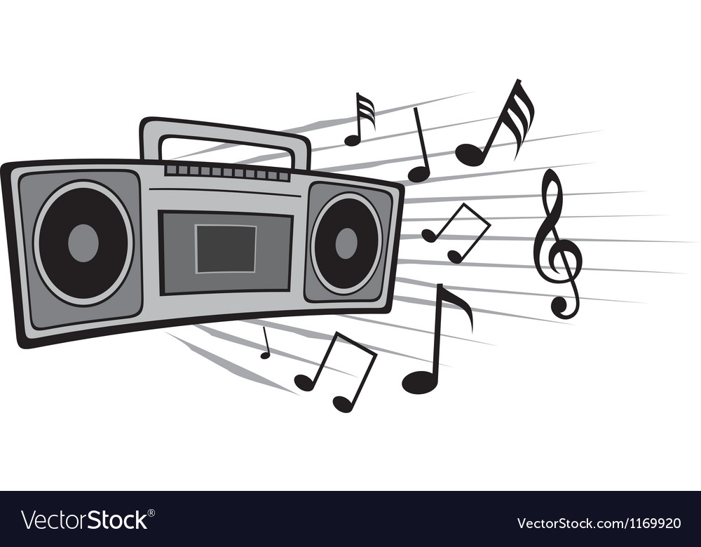 Cassette tape recorder vector | Price: 1 Credit (USD $1)