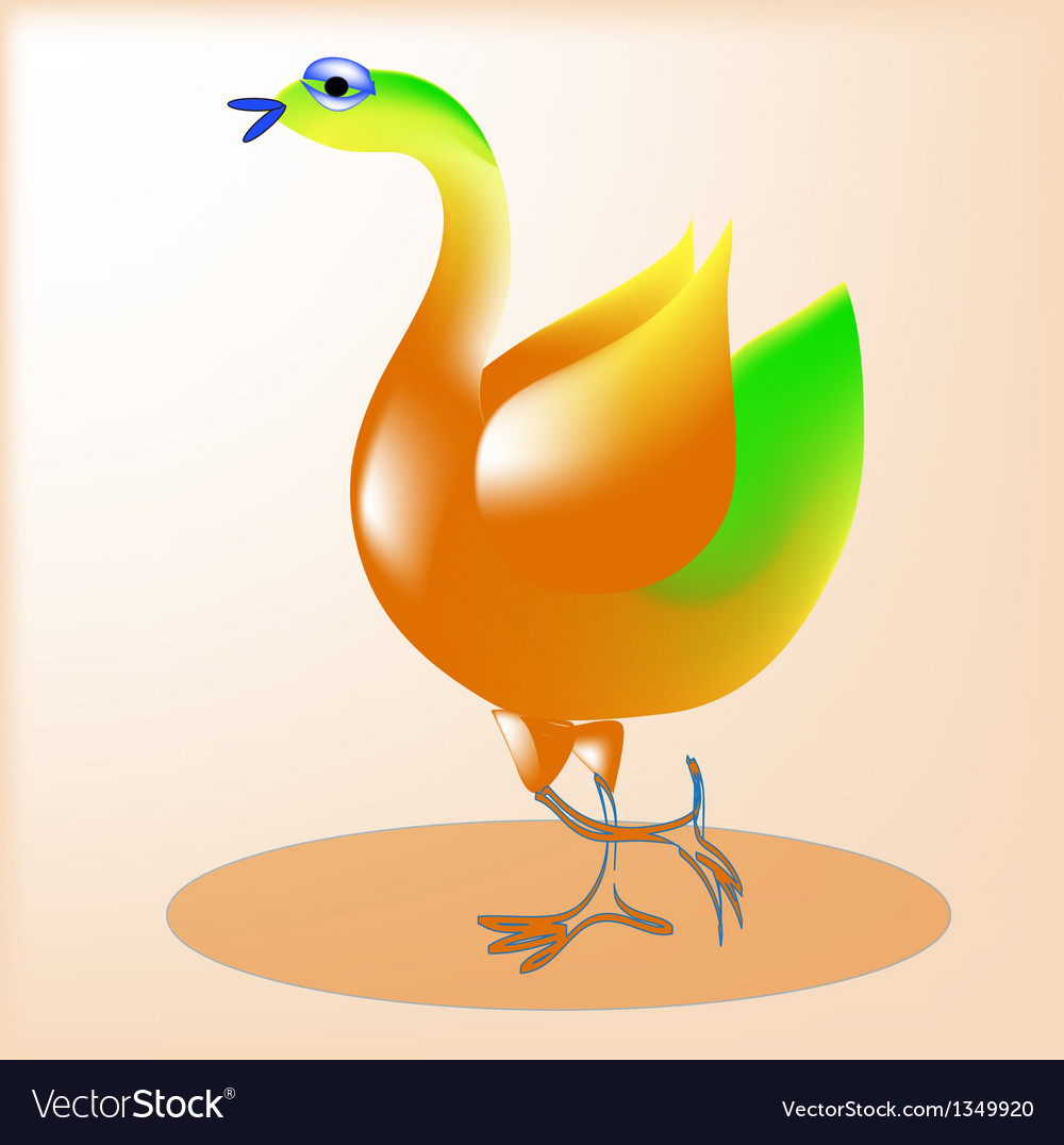 Cheerful bird1 vector | Price: 1 Credit (USD $1)