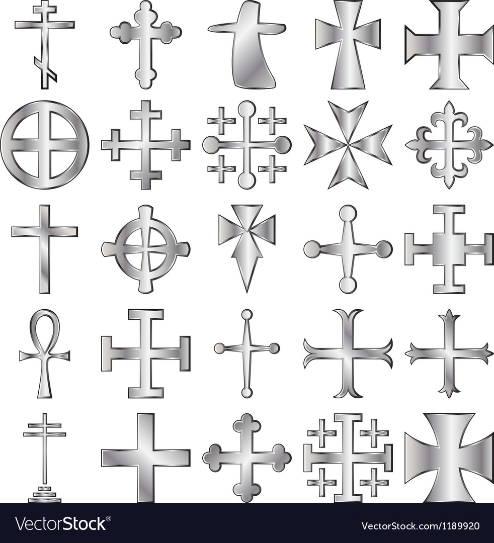 Crosses set vector | Price: 1 Credit (USD $1)