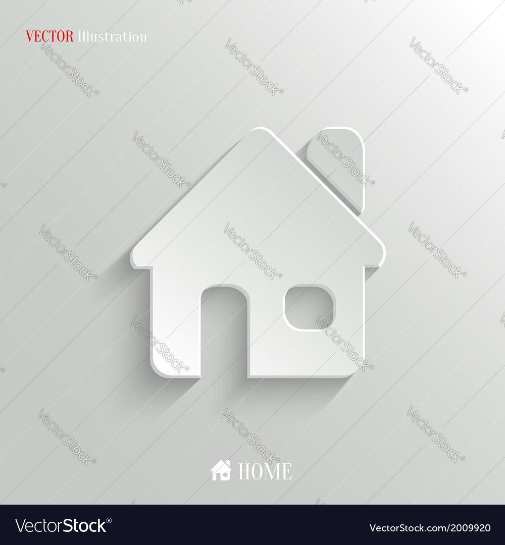 Home icon - white app button vector | Price: 1 Credit (USD $1)