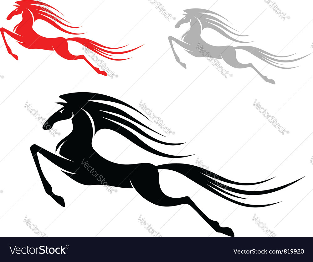 Mustang horses vector | Price: 1 Credit (USD $1)
