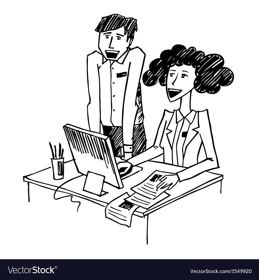 Office conversation vector | Price: 1 Credit (USD $1)