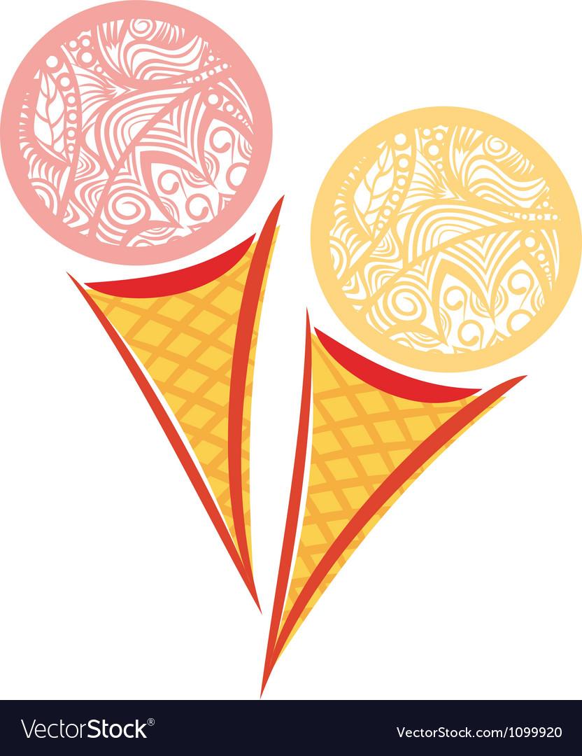 Ornamental pattern ice cream vector   Price: 1 Credit (USD $1)