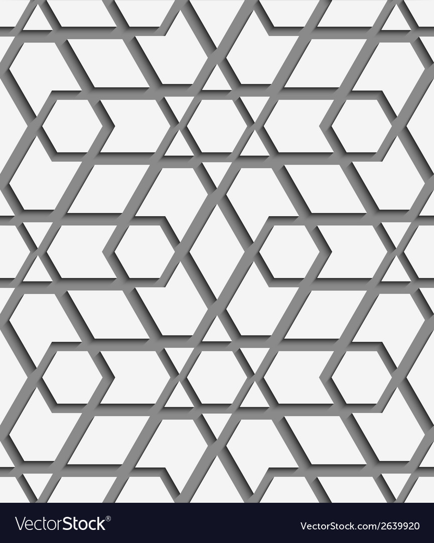 White geometrical detailed on gray seamless vector | Price: 1 Credit (USD $1)