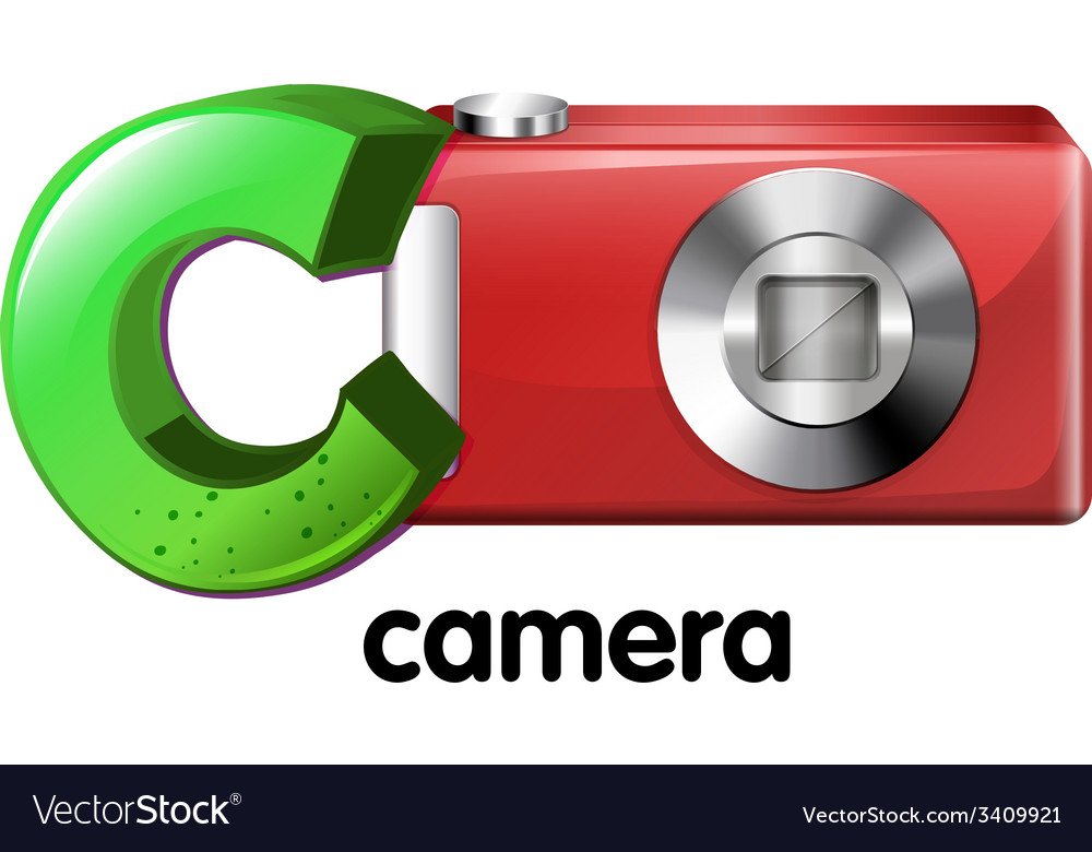 A letter c for camera vector | Price: 1 Credit (USD $1)