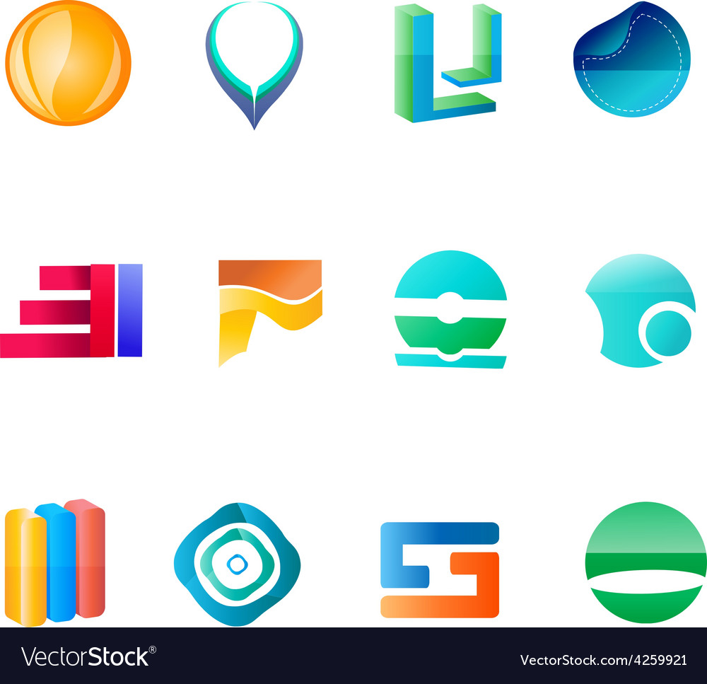 Abctract logo set vector | Price: 1 Credit (USD $1)