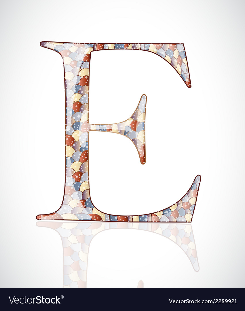 Abstract letter e vector | Price: 1 Credit (USD $1)
