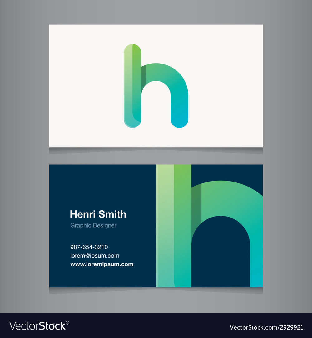 Business card letter h vector | Price: 1 Credit (USD $1)