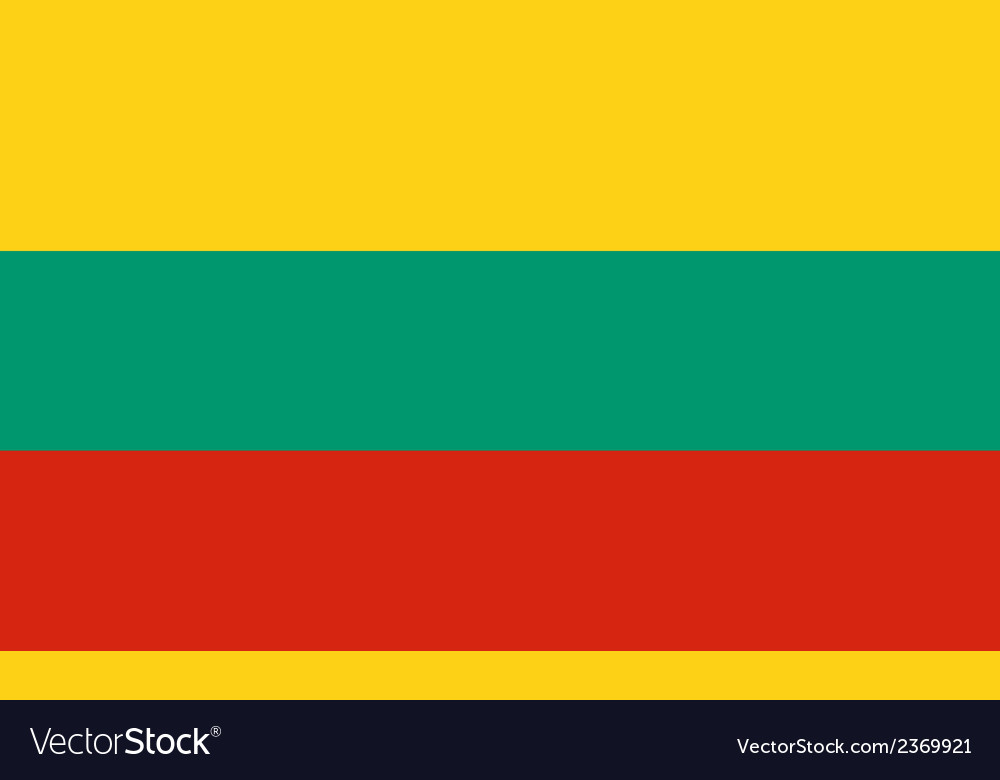 Flag of lithuania vector | Price: 1 Credit (USD $1)