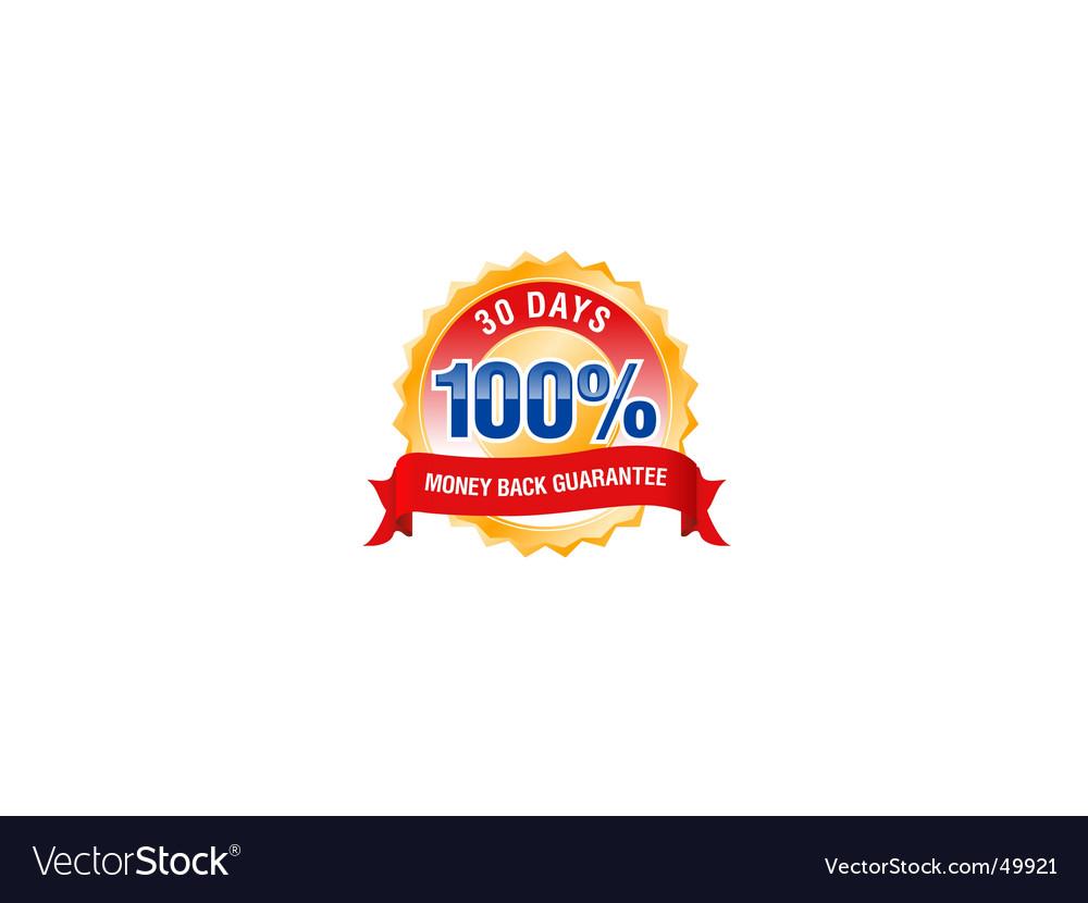 Guarantee seal vector | Price: 1 Credit (USD $1)