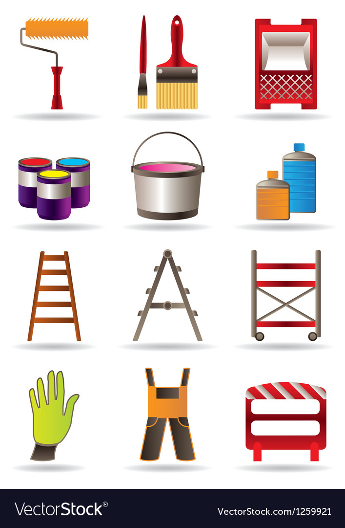 Painting and construction tools vector | Price: 3 Credit (USD $3)