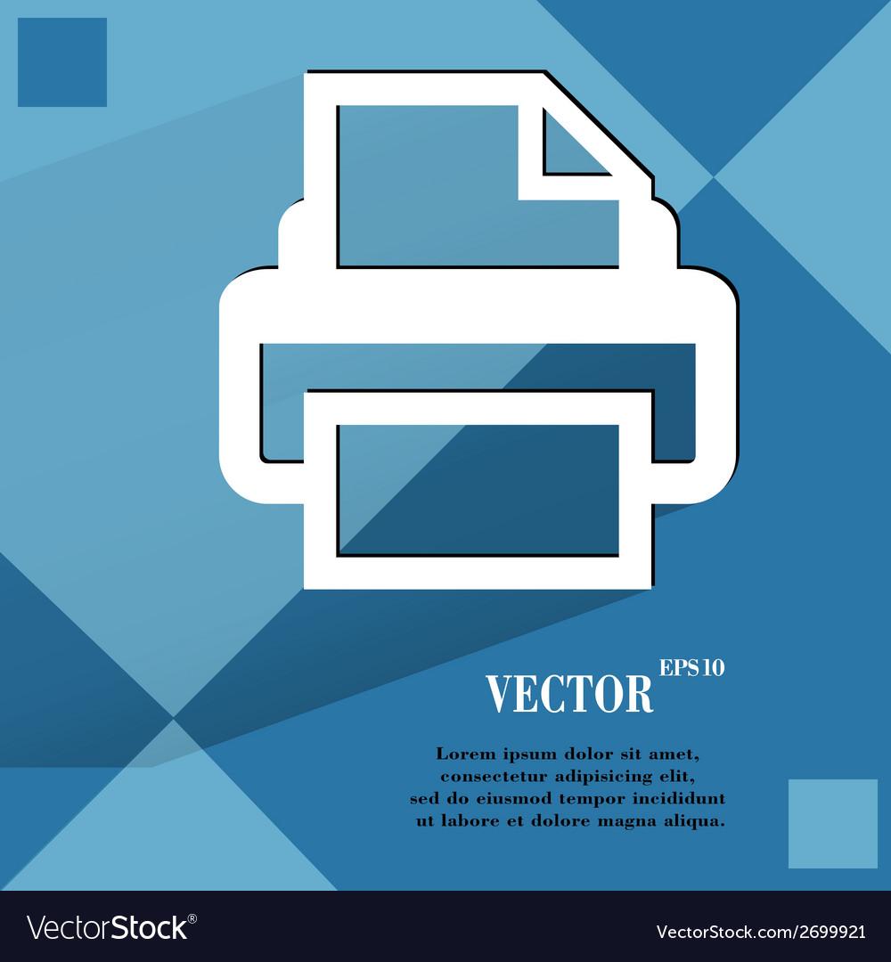 Printer flat modern web design on a flat geometric vector | Price: 1 Credit (USD $1)
