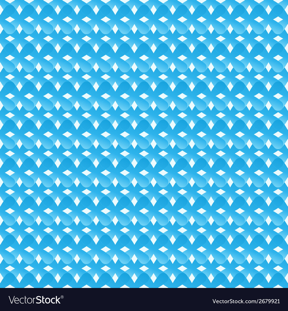 Seamless pattern of blue abstract crosses vector | Price: 1 Credit (USD $1)