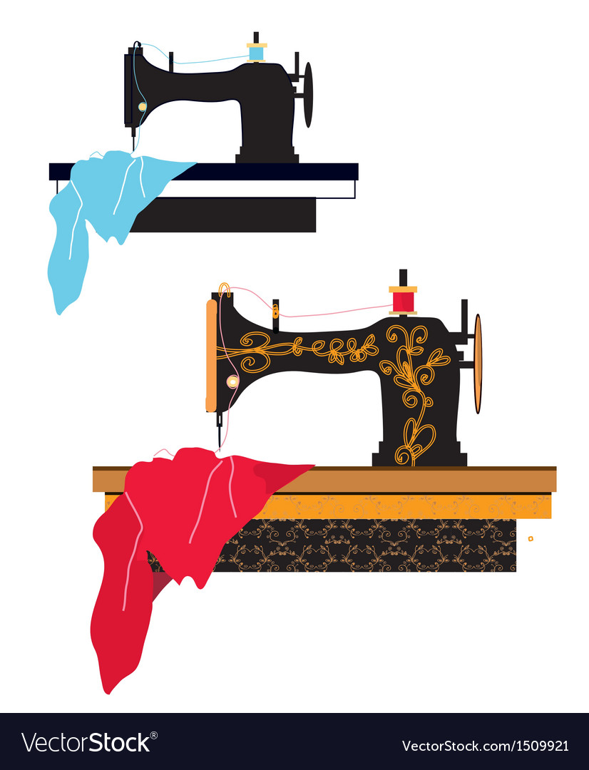 Sewing machine silhouette vector | Price: 1 Credit (USD $1)