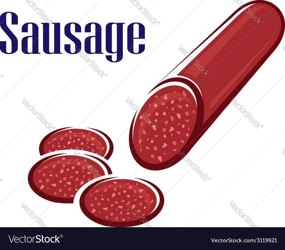 Spicy salami sausage vector | Price: 1 Credit (USD $1)