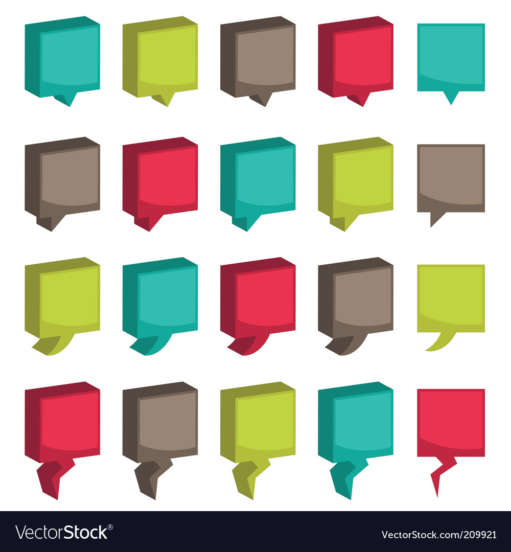 Square 3d tabs vector | Price: 1 Credit (USD $1)