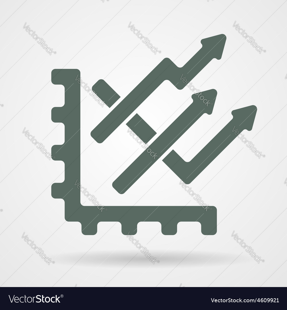 Trend chart web icon vector | Price: 1 Credit (USD $1)