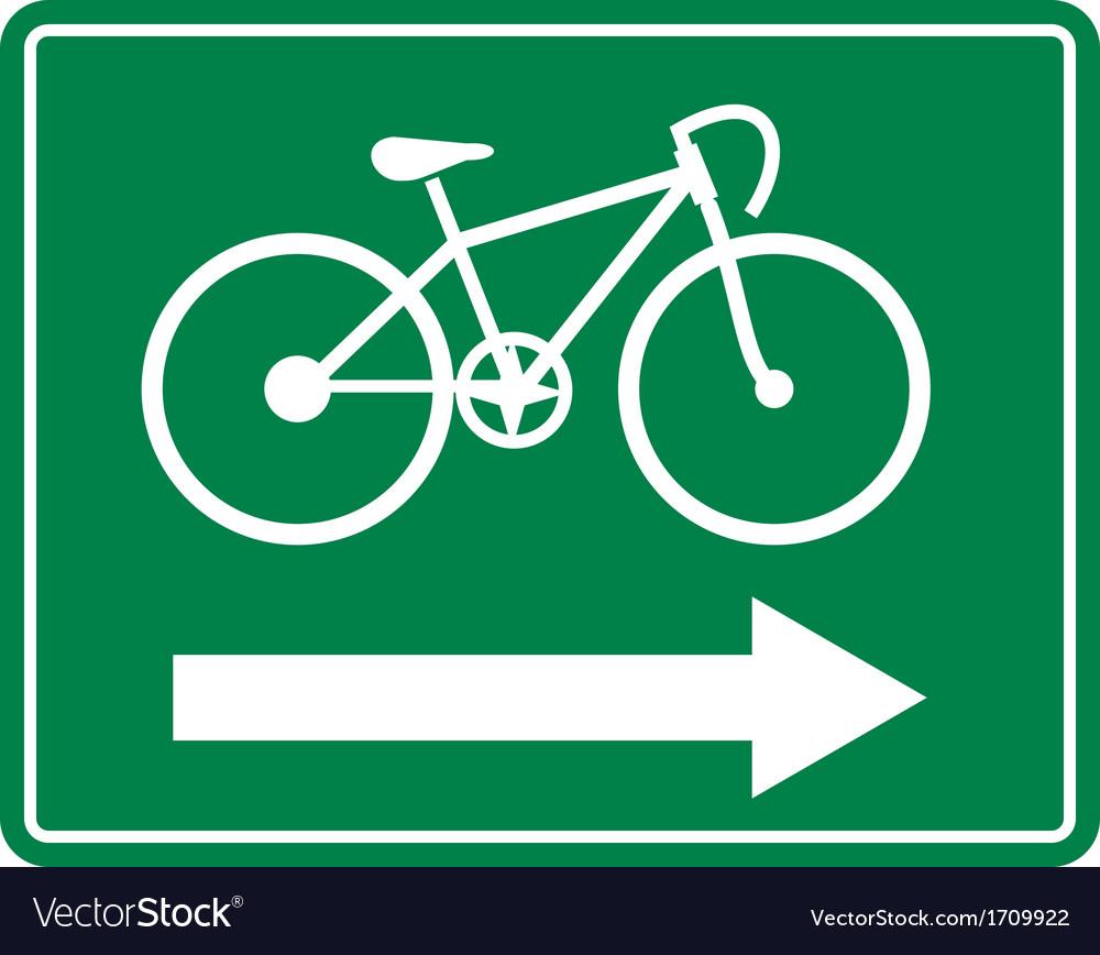 Bicycle road sign symbol vector | Price: 1 Credit (USD $1)